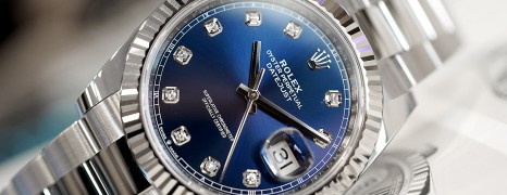 Rolex Datejust 41 White Gold Bezel Blue Dial Diamond 41 mm Ref.126334 (08/2019)