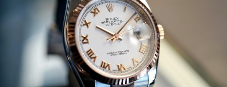 Rolex Datejust Everose Rolesor Pink Gold 18K White Roman Dial 36 mm REF.116231 (02/2015)