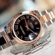 NEW!! Rolex Datejust Everose Rolesor Black Roman Dial 31 mm REF.178241 (Thai AD 02/2020)