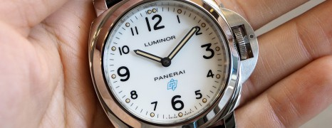 NEW!! Panerai 630 Luminor White Dial Blue Logo 44 mm S.S (Thai AD 02/2020)