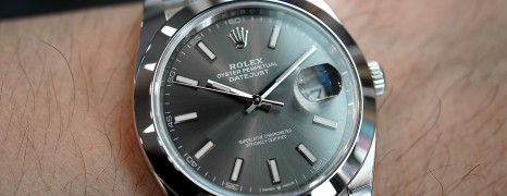 NEW!! Rolex Datejust 41 Dark Rodium Dial 41 mm Ref.126300 (Thai AD 01/2020)