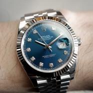 Rolex Datejust 41 Jubilee White Gold Bezel Blue Dial Diamond 41 mm Ref.126334 (NEW THAI AD 01/2020)