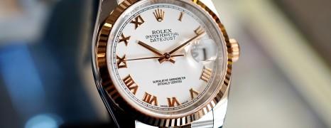 Rolex Datejust 2K Pink Gold 18K White Roman Dial Jubilee 36 mm REF.116231 (THAI AD 07/2016)