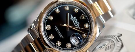 Rolex Datejust 2K Yellow Gold Black Diamond Dial 36 mm Ref.126203 (Fullset 11/2018)
