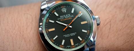 Rolex Milgauss Black Dial Green Sapphire 40 MM Ref.116400GV (THAI AD 03/2013)