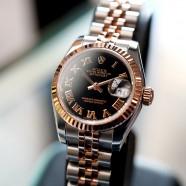 Rolex Datejust Lady 2K Pink Gold Black Roman Dial 26 mm REF.179171 (12/2012)