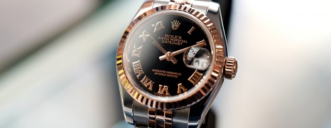 Rolex Datejust Lady 2K Pink Gold Black Roman Dial 26 mm REF.179171 (12/2012)