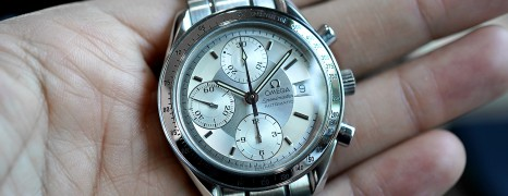 Omega Speedmaster Automatic Chronograph Date Silver Dial 39 mm