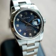 Rolex Datejust Blue Com Diamond Dial 36 mm Ref.116234 (04/2015)