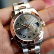 NEW!! Rolex Datejust 41 Twotone Rosegold Wimbledon Dial 41 mm Ref.126301 (New!! 05/2020)