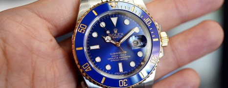 Rolex Submariner 2K Blue Sunburst Dial Ceramic 40 mm Ref.116613LB (Thai AD 04/2017)