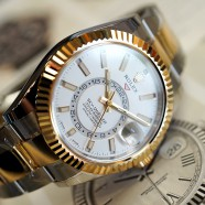 NEW!! Rolex Sky-Dweller 2K Yellow Rolesor White Dial 42 mm Ref.326933 (NEW Thai AD 11/2019)