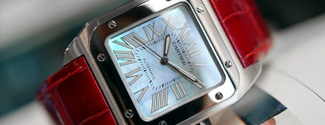 Cartier Santos 100 Midsize MOP Dial 33 mm (Discon Model)