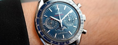 Omega Speedmaster Moonwatch Moonphase Blue Dial Chronograph Master Chronometer 44.25 mm (Thai AD 02/2020)
