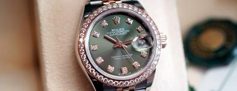 Rolex Datejust Everose Rolesor Full Diamond Olive Dial 28 mm REF.279381RBR (Thai AD 10/2019)
