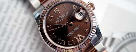 Rolex Datejust Everose Rolesor Chocolate VI Diamond 31 mm REF.178271 (07/2018)