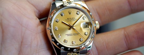 Rolex Datejust 2K Yellow Rolesor Champagne Dial Diamond Bezel 31 mm REF.178343 (Thai AD 01/2011)