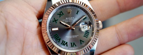 NEW!! Rolex Datejust 41 Everose Rolesor Slate Grey Roman (Wimbledon) Dial 41 mm Ref.126331 (New 10/2018)