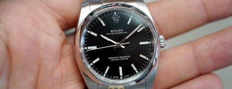 Rolex Oyster Perpetual Black Dial 34 mm Ref.114200 (07/2018)