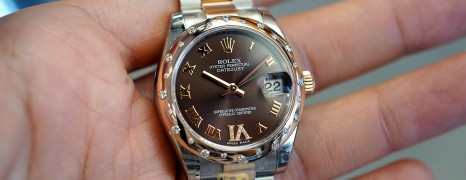 Rolex Datejust Everose Rolesor Chocolate VI Diamond 31 mm REF.178341 (01/2012)