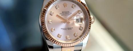 Rolex Datejust Everose Rolesor Pink Gold 18K Diamond Dial 36 mm REF.116231 (Thai AD 04/2016)
