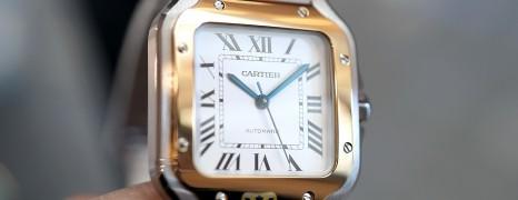 NEW!! Cartier Santos 100 Medium Yellow Gold&Steel Size 35.1 mm Ref.W2SA0007 (New Thai AD 08/2020)