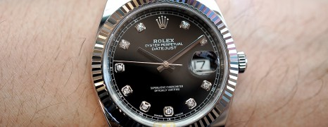 Rolex Datejust 41 White Gold Bezel Black Dial Diamond 41 mm Ref.126334 (Thai AD 04/2018)