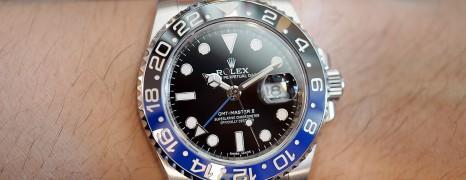 Rolex GMT-Master II Black Dial Black Blue Ceramic REF.116710BLNR (Batman)(09/2016)
