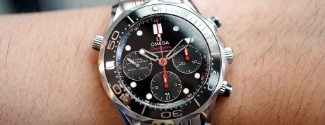 Omega Seamaster Diver 300M Co-Axial Chronograph Black Ceramic 41.5 mm (02/2016)