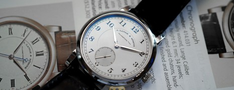 A. Lange & Söhne 1815 Platinum Silver Dial Limited Edition 40 mm Ref.233.025 (Thai AD 06/2010)