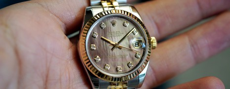 Rolex Datejust 2K Black MOP Diamonds 31 mm REF.178273 (11/2011)