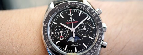Omega Speedmaster Moonwatch Moonphase Chronograph Master Chronometer 44.25 mm (Thai AD 12/2017)