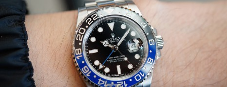 Rolex GMT-Master II Black Dial Black Blue Ceramic REF.116710BLNR (Batman)(07/2016)