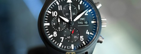IWC Pilot's Watch Chronograph Top Gun Black Ceramic 44.5 mm Ref.IW389101 (Thai AD 07/2020)