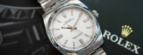 NEW!! Rolex Oyster Perpetual White Dial 36 mm REF.116000 (NEW THAI AD 10/2020)