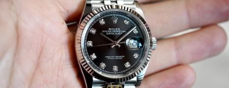 NEW!! Rolex Datejust Jubilee Black Diamond Dial King Size 36 mm Ref.126234 (NEW Thai AD 10/2020)