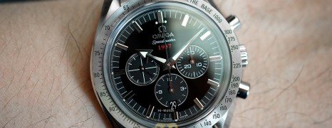 "Omega Speedmaster Broad Arrow ""1957"" Co-Axial Chronograph Black Dial 42 mm (12/2018)"
