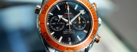 Omega Seamaster Planet Ocean 600M Chronograph Caliber 9300 (Orange Bezel) 45.5 mm (10/2018)