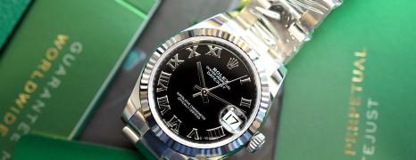 NEW!!! Rolex Datejust Black Roman Dial 31 mm REF.178274 (NEW Thai AD 12/2020)