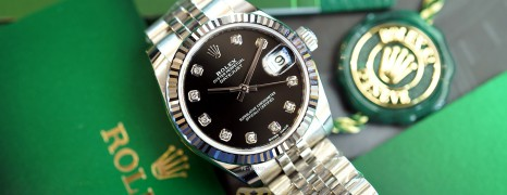 NEW!!! Rolex Datejust Jubilee Black Dial Diamond 31 mm REF.178274 (NEW Thai AD 12/2020)