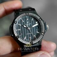 NEW!!! Hublot Big Bang Automatic Diamond Black Carbon Dial 38 mm (NEW 01/2021)