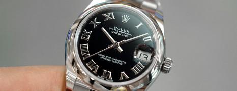 NEW!!! Rolex Datejust Black Roman Dial Boy Size 31 mm REF.178240 (NEW Thai AD 01/2021)