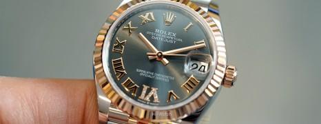 NEW!!! Rolex Datejust Everose Rolesor Dark Rodium VI Diamond 31 mm REF.278271 (New Thai AD 01/2021)