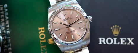 NEW!! Rolex Oyster Perpetual Pink Dial 34 mm Ref.124200 (NEW Thai AD 12/2020)