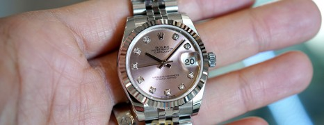 NEW!!! Rolex Datejust Jubilee Pink Dial Diamond 31 mm REF.178274 (NEW Thai AD 12/2020)