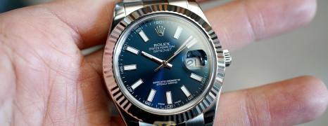 Rolex Datejust II WG Bezel Blue Dial 41 mm Ref.116334 (Thai AD 07/2013)