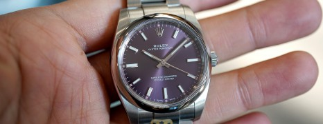 Rolex Oyster Perpetual Purple Dial 34 mm REF.114200 (Thai AD 05/2018)