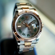 NEW!! Rolex Datejust 41 Everose Rolesor Slate Grey Roman (Wimbledon) Dial 41 mm Ref.126331 (New 02/2021)