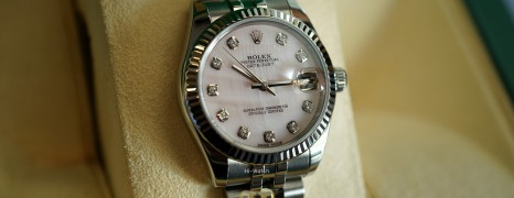 Rolex Datejust Jubilee Pink MOP Dial Diamond 31 mm REF.178274 (01/2017)