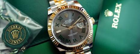 NEW!!! Rolex Datejust 41Jubilee 2K Rolesor Slate Grey Dial (Wimbledon) 41 mm Ref.126333 (NEW Thai AD 03/2021)